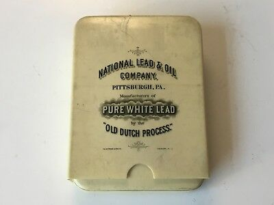 National Lead & Oil Co., Pittsburgh, PA celluloid cigar case