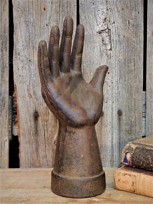 Rare Early Antique Primitive Cast Iron HAND Form MOLD AAFA
