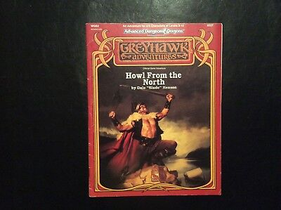 Tsr Ad&d Greyhawk Adventures Howl From The North Wgs2 9337 1991