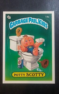 Garbage Pail Kids Series 1 1985 POTTY SCOTTY 14a Matte Original 1st Os1 vtg NICE