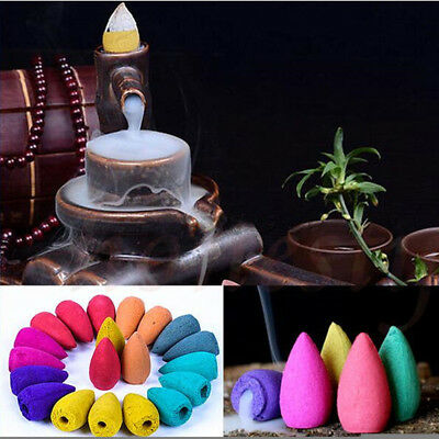 40X Smoke Tower Cones Bullet Backflow Incense Hollow Cone Multi Home