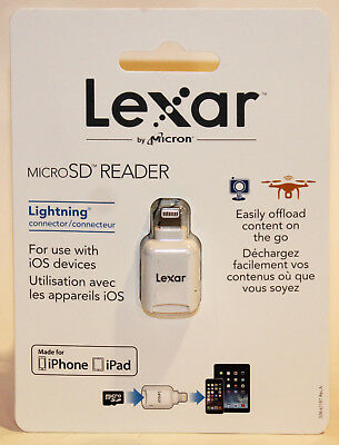 NEW LEXAR Memory Card Reader Adapter Micro SD To Lightning Connector for iPhone