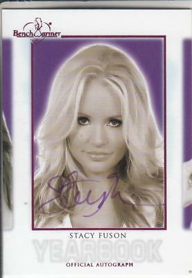 2018 Benchwarmer Hot For Teacher Stacy Fuson Yearbook Pink Autograph  Card