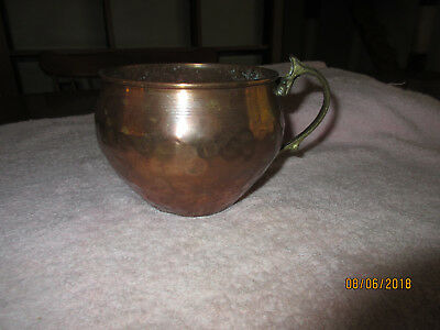 Hammered Copper Mug With Handle - Large - Larp - Rendezvous - Mountain Man