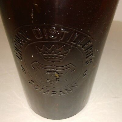 """Dark Amber """"CROWN DISTILLERIES COMPANY"""" whiskey-Applied Top. Excellent!"""