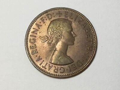 GREAT BRITAIN 1967 1 Penny coin toned uncirculated
