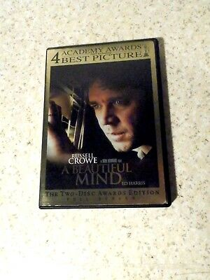 A Beautiful Mind Dvd 2 Disc Set Full Screen Excellent
