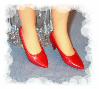 True Red pumps shoes made for Franklin Mint Diana vinyl doll fit 15inch Revlon