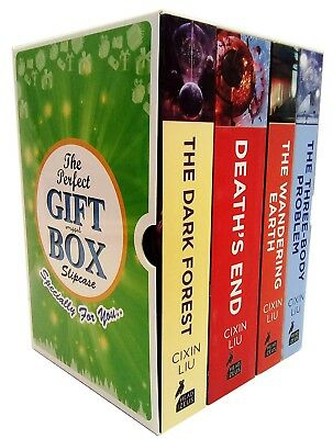 Cixin Liu Collection Three Body Darkforest Problem 4 Books Gift Wrapped Box Set