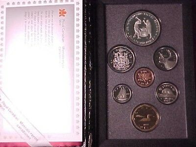 Canada Double Dollar Proof Set 1988 Ironworks Silver $1 In Case Nice