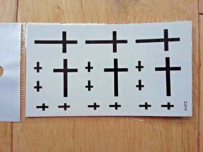 CROSSES TEMPORARY TATTOOS 110 X 60mm X072