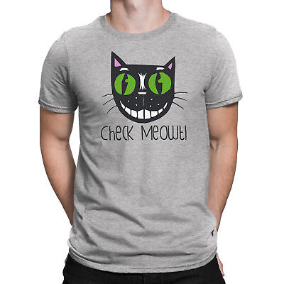 a49ee83ac6f Check Meowt T-Shirt Ladies Mens Funny Cat Gift Kitten Lover Fashion Cute Pet  Top