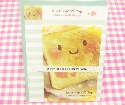 Kyowa / Have a good day Toast Bread Letter Set  / Made in Japan Stationery