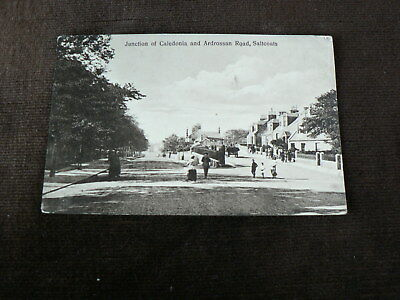 Old Postcard, Junction of Caledonia + Ardrossan Road, Saltcoats, North Ayrshire