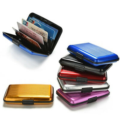 Waterproof Metal Business ID Credit Card Wallet Photo Holder Purse Pocket Case