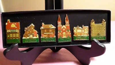 Department 56 - 20th Anniversary Dickens Village Series History Pins - NEW
