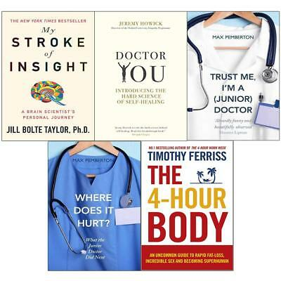 Max Pemberton Collection 5 Books 4-Hour body, my stroke, doctor you, trust NEW