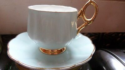 Rosina Light Blue China Cup and Saucer
