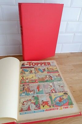 Topper Comic 1961 - 1963 original comic bound into two books