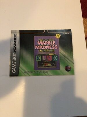 Marble Madness Klax  Instruction Manual Booklet Only Nintendo Gameboy Advance