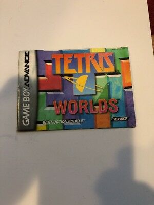Tetris Worlds Instruction Manual Booklet Only Nintendo Gameboy Advance