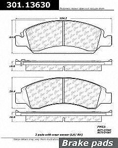 Centric (301.13630) Brake Pad, Ceramic