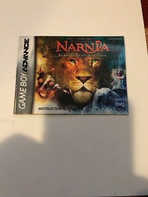 Chronicles Of Narnia Instruction Manual Booklet Only Nintendo Gameboy Advance