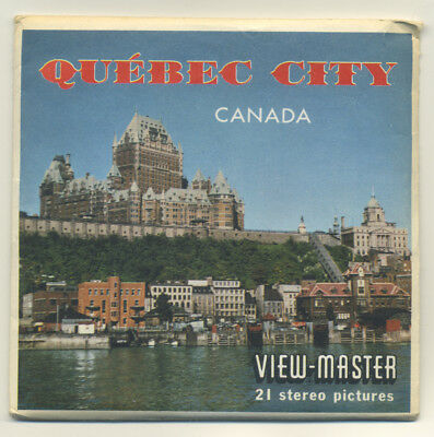 Quebec City Canada Sawyer's ViewMaster Packet A-050 Exc. Condition