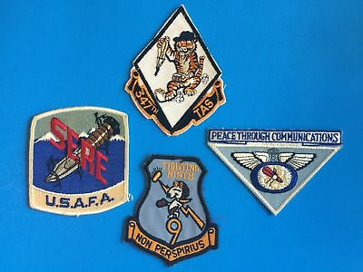 Original Cold War Era Us Air Force Lot Of 4 Patches