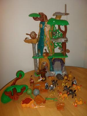 Disney Junior Lion Guard King Training Lair Playset Figures Huge Lot