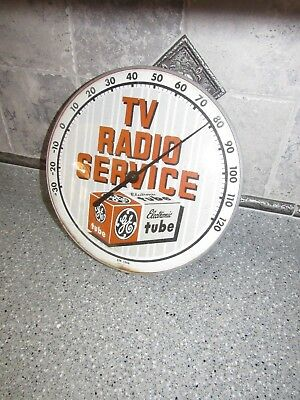 Vintage 1950's PAM Round Thermometer General Electric GE TV Radio SERVICE Tubes