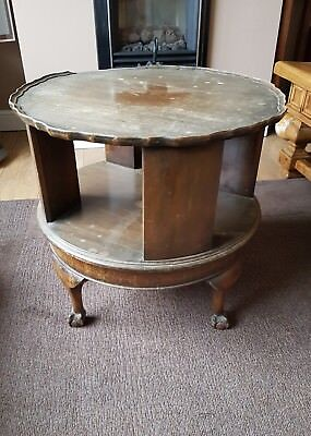 Edwardian ball and claw  oak rotating table