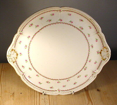 GDA France Limoges Roses & Gilt Cake Plate