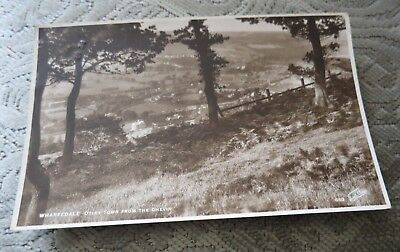 Vintage1928 Wharfedale Otley Town From The Chevin Rp Walter Scott Postcard
