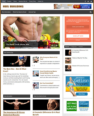 ABS BUILDING - Fully Featured Niche Website Business For Sale - Newbie Friendly