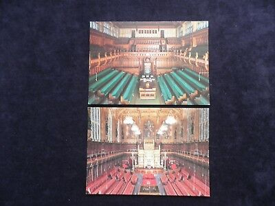 2 Postcards Chamber House Of Commons Westminster Chamber House Of Lords Politics