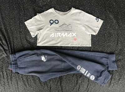 Boys Nike Air Max Joggers & T-shirt Top Set Age 10-12 12-13 Years