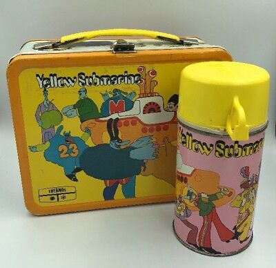 1968 BEATLES Yellow Submarine Lunch Box and Thermos *EXCELLENT CONDITION*