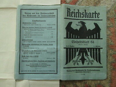 Large Original WW2 German Map of west of Berlin - Wehrmacht Army