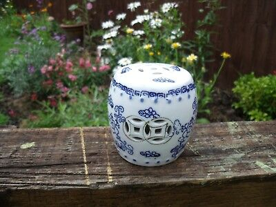 """Blue & White Chinese Cricket Cage/Jar or Pot ~ 3"""""""