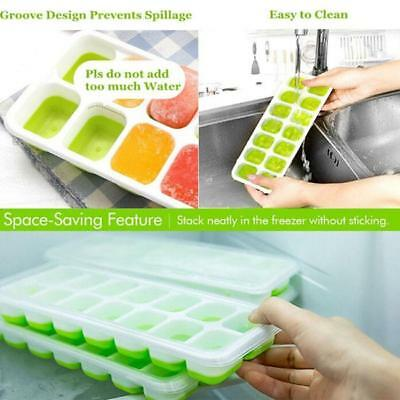 14 Cavities Silicone Mold Tool Jelly Ice Cubes Tray Pudding Mould Z