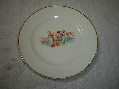 Vintage Girls and Children Dancing 1920's plate  -  No Reserve