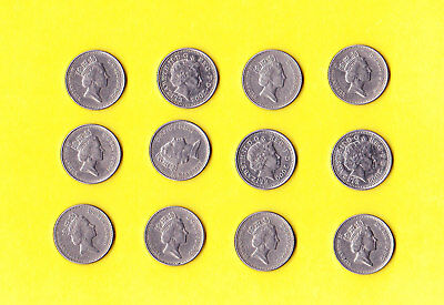 1990 - 2003 Great Britain 5 Pence UK Coins - Lot of 12 + ONE FREE-REDUCED