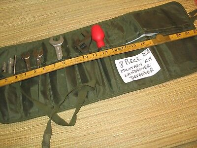 A Genuine Ex Military 8 Piece Landrover Tool Kit In Lightweight Army Tool Roll