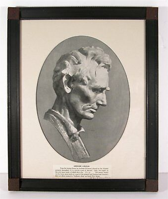 1918 Abraham Lincoln Relic Frame - Floorboard Pieces From Lincolns Law Office
