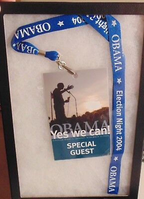 Barack Obama Illinois 2004 local campaign political pass tag lanyard