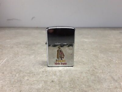 Vintage Hawaii 50th State Zippo Lighter