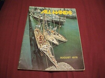 ALL HANDS NAVY/NAVAL/MILITARY Magazine - August 1976