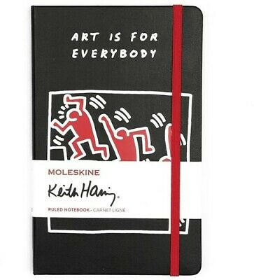 Moleskine Limited Edition Keith Haring, Notebook, Large, Ruled, Black(5 x 8.25)