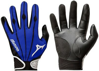 1 Pair Mizuno 330286 Vintage Pro Small Royal Blue Adult Batting Gloves New!